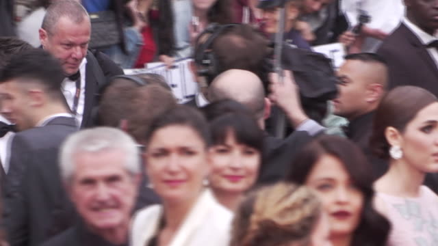 stars shine along side the cast of the bfg on the red carpet at the cannes film festival - max von sydow stock videos & royalty-free footage