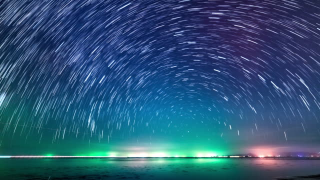 stars time lapse 4k - light trail stock videos & royalty-free footage
