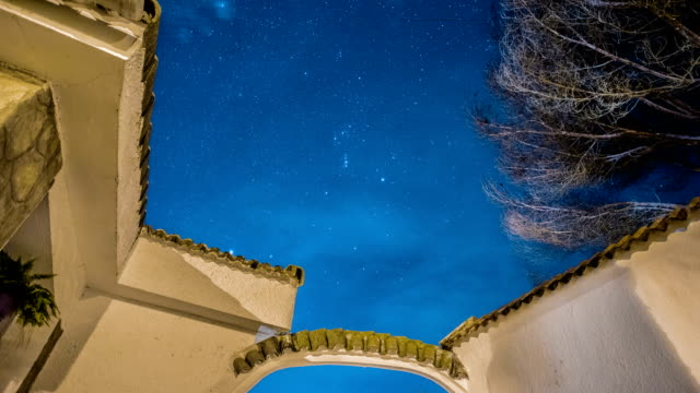 stars time lapse from house - cádiz stock videos and b-roll footage