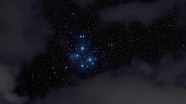 4k: stars visible in a cloudy night - bunch stock videos and b-roll footage