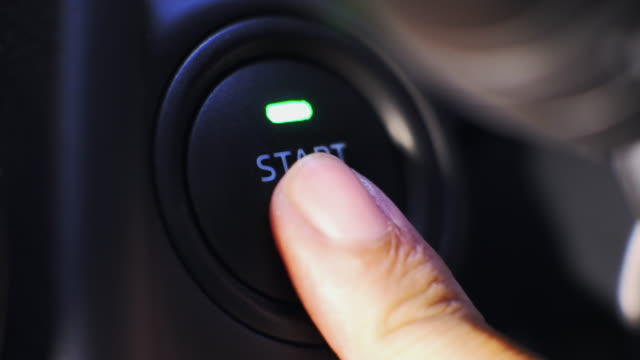 start car engine by pushing a button - start button stock videos & royalty-free footage