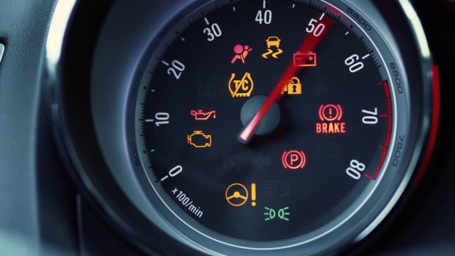 start the car dashboard tachometer - speedometer stock videos & royalty-free footage