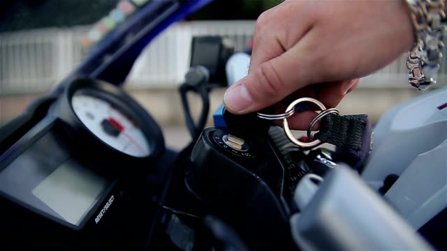 start the engine on a motorcycle - sports glove stock videos & royalty-free footage