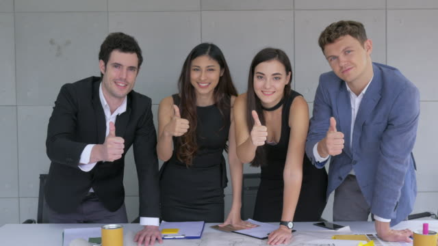 start up team, young businessman and businesswoman sucessful in business - employee engagement stock videos & royalty-free footage