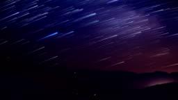 Startails in mountain area in night
