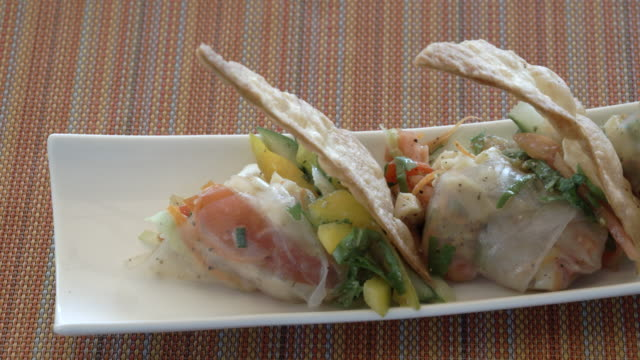 starter dish / st lucia, caribbean - savory food stock videos and b-roll footage