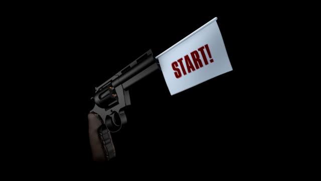 vidéos et rushes de entrée pistolet animation 3d, hd 1080 - arme à feu