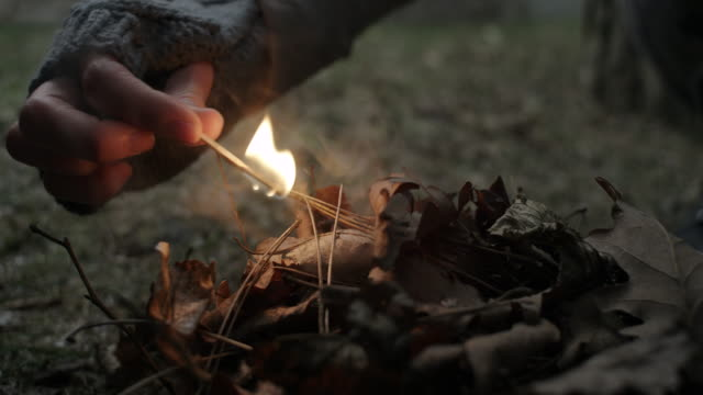 Starting a Fire with match