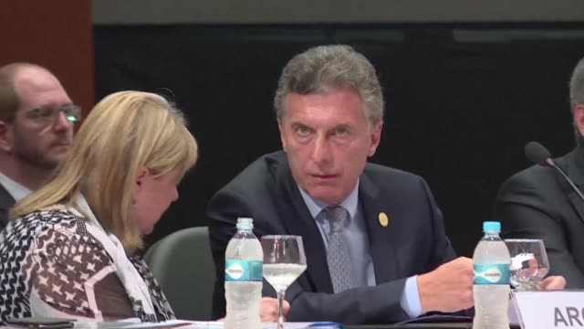 starting the mercosur summit in paraguay on monday argentine president mauricio macri called for the prompt release of political prisoners in... - mercosur stock videos & royalty-free footage