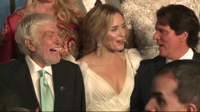 starts including britain's emily blunt and nonagenarian dick van dyke gather for the red carpet of mary poppins in los angeles - ben whishaw stock videos & royalty-free footage
