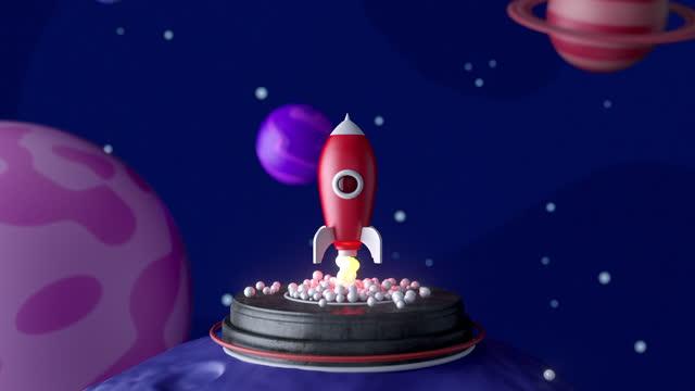 stockvideo's en b-roll-footage met opstarten - 4k-resolutie - raket wapen