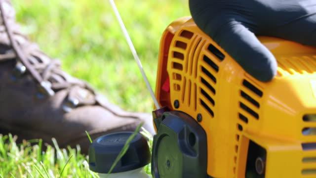 startup gardening machine - trädgårdshandske bildbanksvideor och videomaterial från bakom kulisserna