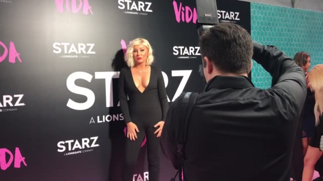 starz held a special red carpet screening premiere of their new show vida the premiere was held at the regal la live cinemas in downtown los angeles - vida no mar stock videos & royalty-free footage