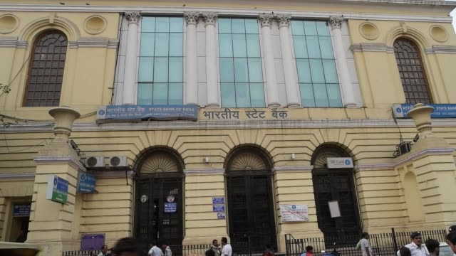 state bank of india is an indian multinational public sector banking and financial services company / it is a governmentowned corporation with its... - westbengalen stock-videos und b-roll-filmmaterial