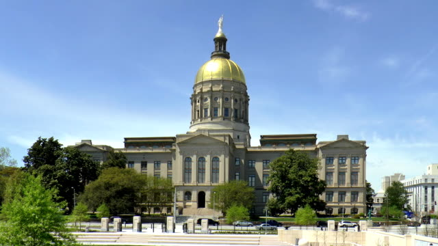 state capital bldg - atlanta, georgia - capital cities stock videos & royalty-free footage