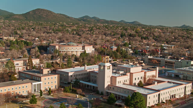 state capitol complex in santa fe, new mexico - new mexico stock videos & royalty-free footage