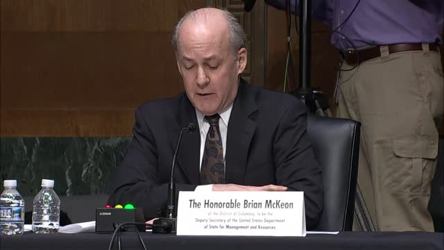 state department deputy secretary nominee brian mckeon tells senate foreign relations committee at nomination hearing that his first priority is... - nomination stock videos & royalty-free footage