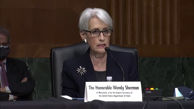 state department deputy secretary nominee wendy sherman tells senate foreign relations committee at nomination hearing that china was a major... - nomination stock videos & royalty-free footage