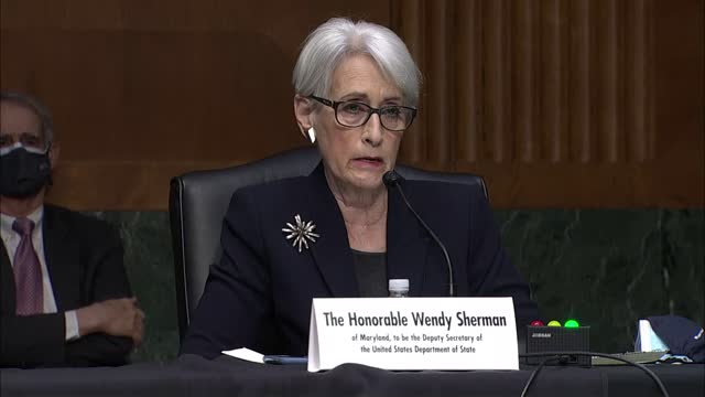 state department deputy secretary nominee wendy sherman testifies at senate foreign relations committee nomination hearing that where the horrifying... - nomination stock videos & royalty-free footage