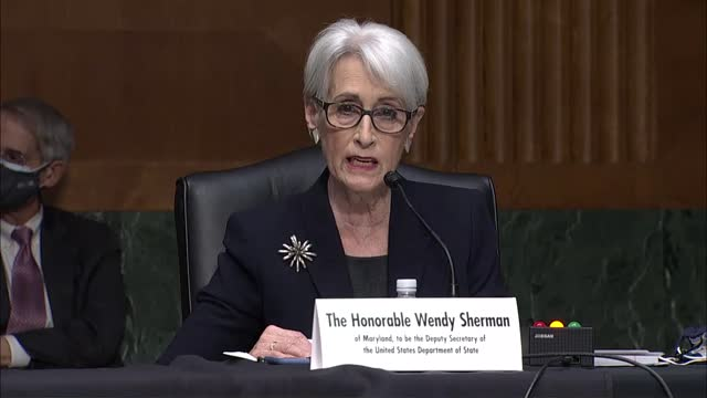 state department the deputy secretary nominee wendy sherman tells senate foreign relations committee at her nomination hearing that is leader on the... - nomination stock videos & royalty-free footage