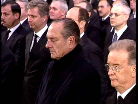 state funeral for madrid bombing victims / blair comments on libya visit pool madrid almudena cathedral cardinal antonio rouco varela archbishop of... - cherie charles stock videos & royalty-free footage