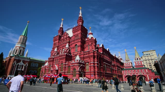 state history museum, moscow, russia - moscow russia stock-videos und b-roll-filmmaterial