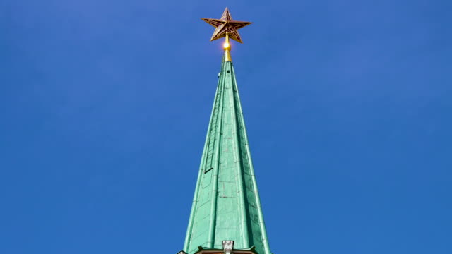 state history museum steeple & star, moscow, russia - steeple stock videos & royalty-free footage
