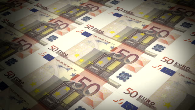 State mint print fifty euro bills