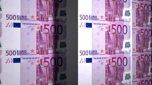 State mint print five hundred euro bills