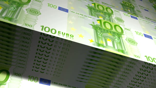 State mint print hundred euro bills