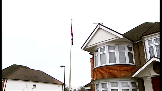 state mourning for kim jongil england west london ealing ext plaque on wall of dprk london embassy 'residence office embassy of dpr korea' press and... - office politics stock videos & royalty-free footage