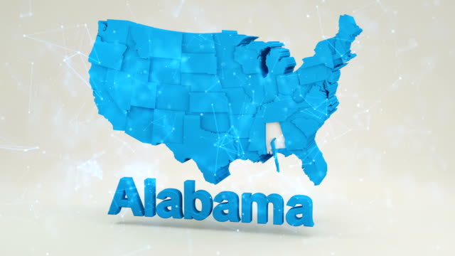 usa, state of alabama - alabama us state stock videos & royalty-free footage