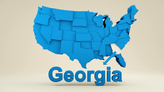 usa, state of georgia - georgia us state stock videos and b-roll footage