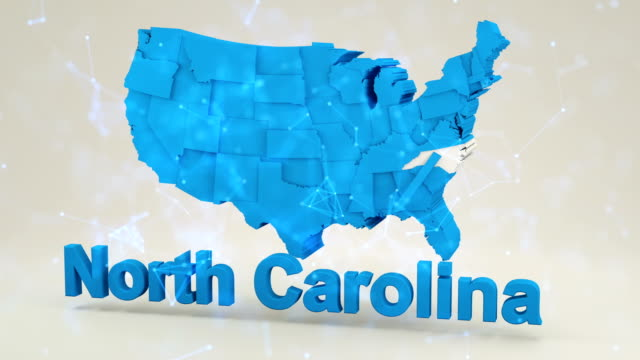 usa, state of north carolina - north carolina us state stock videos & royalty-free footage