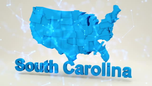 usa, state of south carolina - carolina del nord stato usa video stock e b–roll
