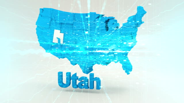 アメリカ合衆国ユタ州 - ユタ州点の映像素材/bロール
