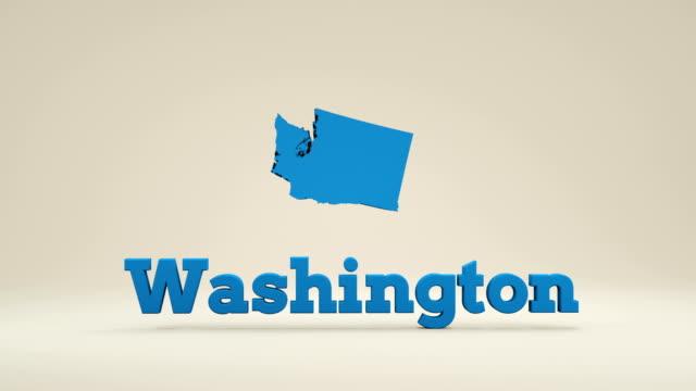 usa, state of washington - stato di washington video stock e b–roll