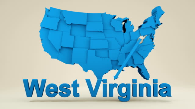 usa, state of west virginia - west virginia us state stock videos & royalty-free footage