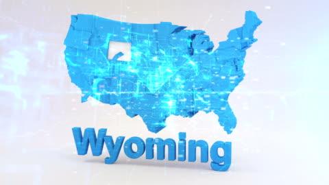 stockvideo's en b-roll-footage met verenigde staten, staat van wyoming - wyoming