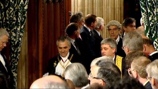 black rod summons mps pay bercow and viggers leading procession of mps headed by prime minister gordon brown mp and conservative party leader david... - rod stock videos & royalty-free footage