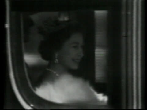 london ext queen elizabeth waving from inside royal carriage pull out carriage along royal procession along down mall - personal land vehicle stock videos & royalty-free footage