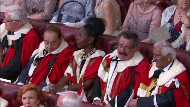 queen's speech 2015 england london houses of parliament int lord's in chamber including baroness floella benjamin baron winston baroness doreen... - floella benjamin stock videos & royalty-free footage
