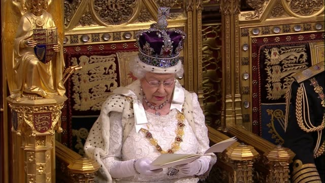 queen's speech 2015 queen elizabeth ii speech sot my lords and members of the house of commons my government will legislate in the interests of... - elizabeth ii stock videos & royalty-free footage