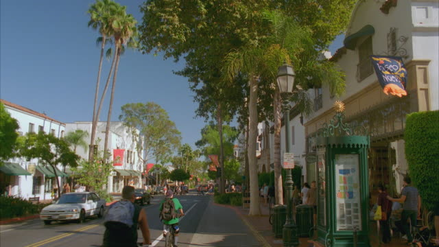 ws state street, central historic santa barbara / california, usa - santa barbara california stock videos and b-roll footage