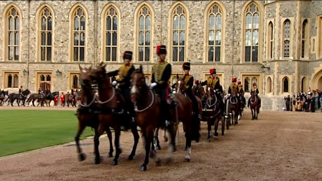 state visit by indian president pratibha patil march past at windsor castle england berkshire windsor windsor castle ext march past led by the... - royal horse artillery stock videos and b-roll footage