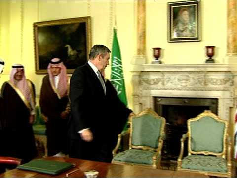 state visit by king abdullah of saudi arabia: gordon brown and king witness signing of double taxation convention; gordon brown mp towards into with... - witness stock videos & royalty-free footage