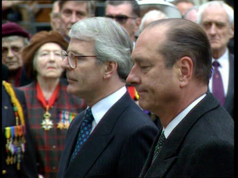 State visit of French President Jacques Chirac to be dominated by BSE beef ban bNAT London Jacques Chirac and PM John Major standing during end of...