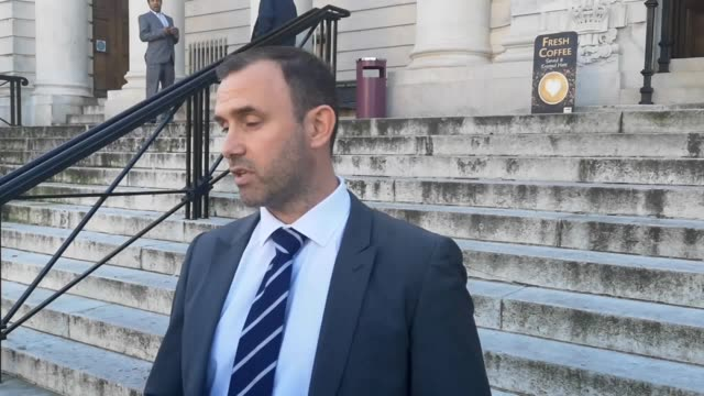 statement by detective sergeant david rich of south wales police outside cardiff crown court after the conviction of sex abuse couple peter and avril... - south wales stock videos & royalty-free footage