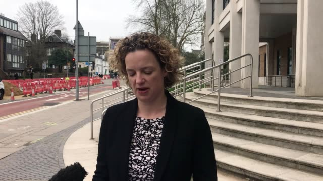 statement from detective chief inspector felicity parker ouside kingston crown court as an abusive wife who killed her husband after repeatedly... - rolling pin stock videos & royalty-free footage
