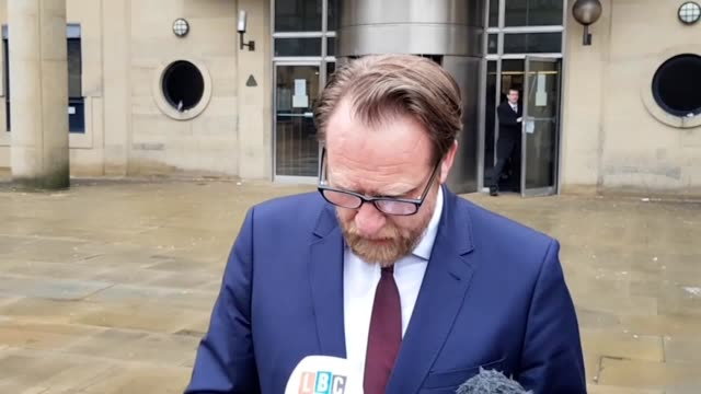 statements by north yorkshire police's dci mark pearson and euan hilton, uncle of jodie willsher, who was murdered by neville hord because he blamed... - スキップトン点の映像素材/bロール